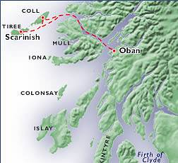 Oban - Tiree Ferry Route