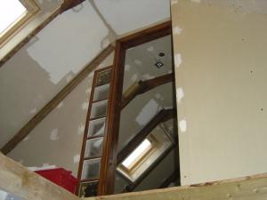 Traditional Beams Upstairs