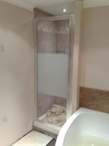 Shower gets Tiled!